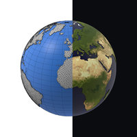 3D earth graphic