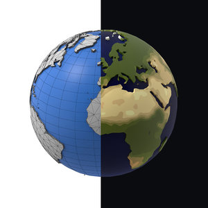 3D earth motion games model