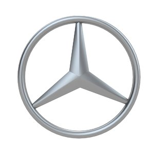 mercedes benz logo 3D model
