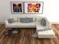 velvet corner sofa lucrezia model