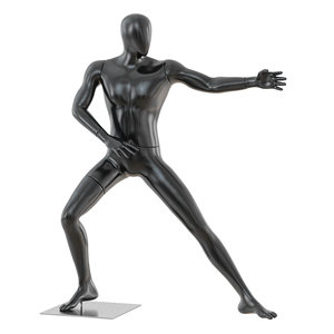 faceless mannequin martial arts 3D model