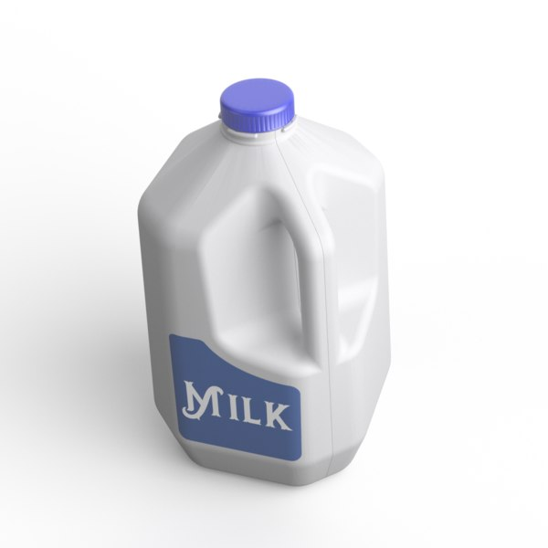 gallon milk 3D model