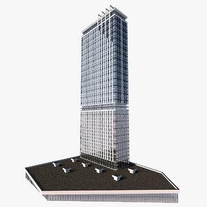 high-rise rise apartment 3D model