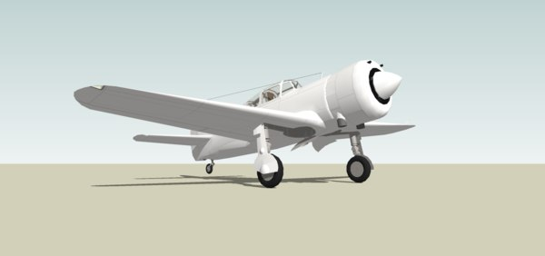 3D wwii fighter model