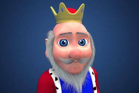 3D model king cartoon