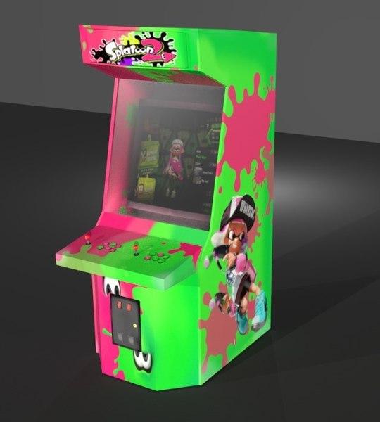 arcade cabinet splatoon 3D