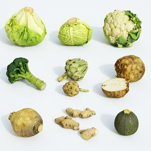 3D model set vegetable