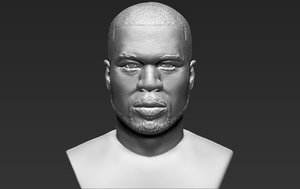 50 cent bust ready 3D model