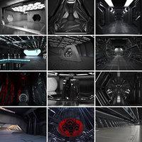 12 sci fi interiors 3D model