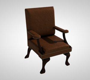 3D chair ornate wood model