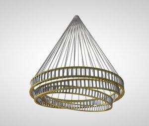 chandelier light ceiling 3D