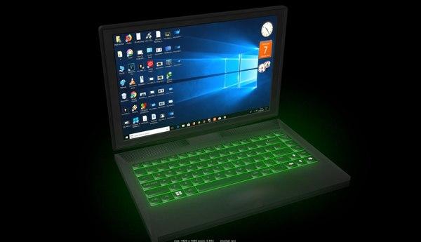 3D hp pavilion laptop