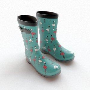 wellington boots flamingo buckles model