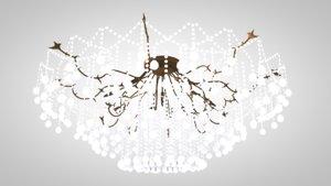 chandelier light ceiling 3D model