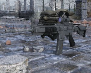 3D rifle assault model