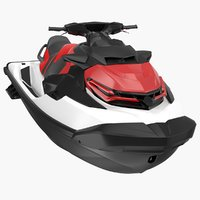 3D jet ski water craft