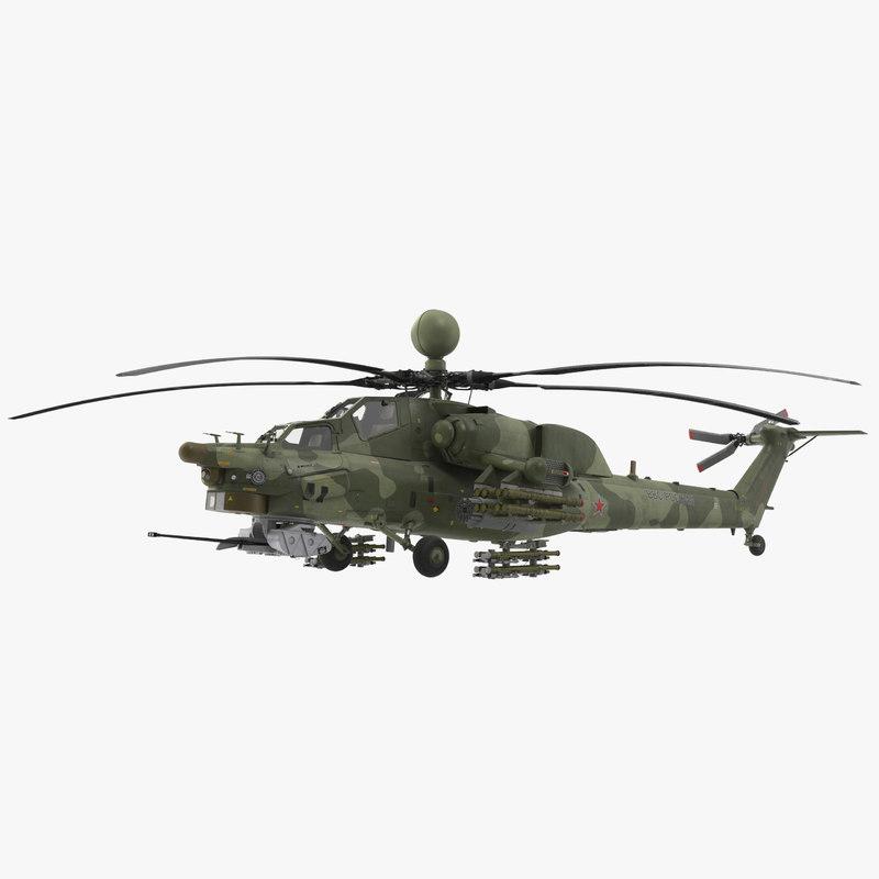 3D mi-28n green