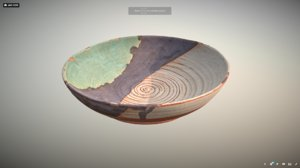 thrown ceramic bowl model