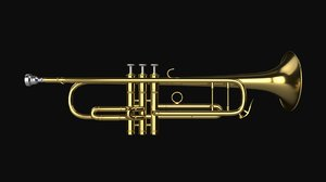 3D model trumpet instrument