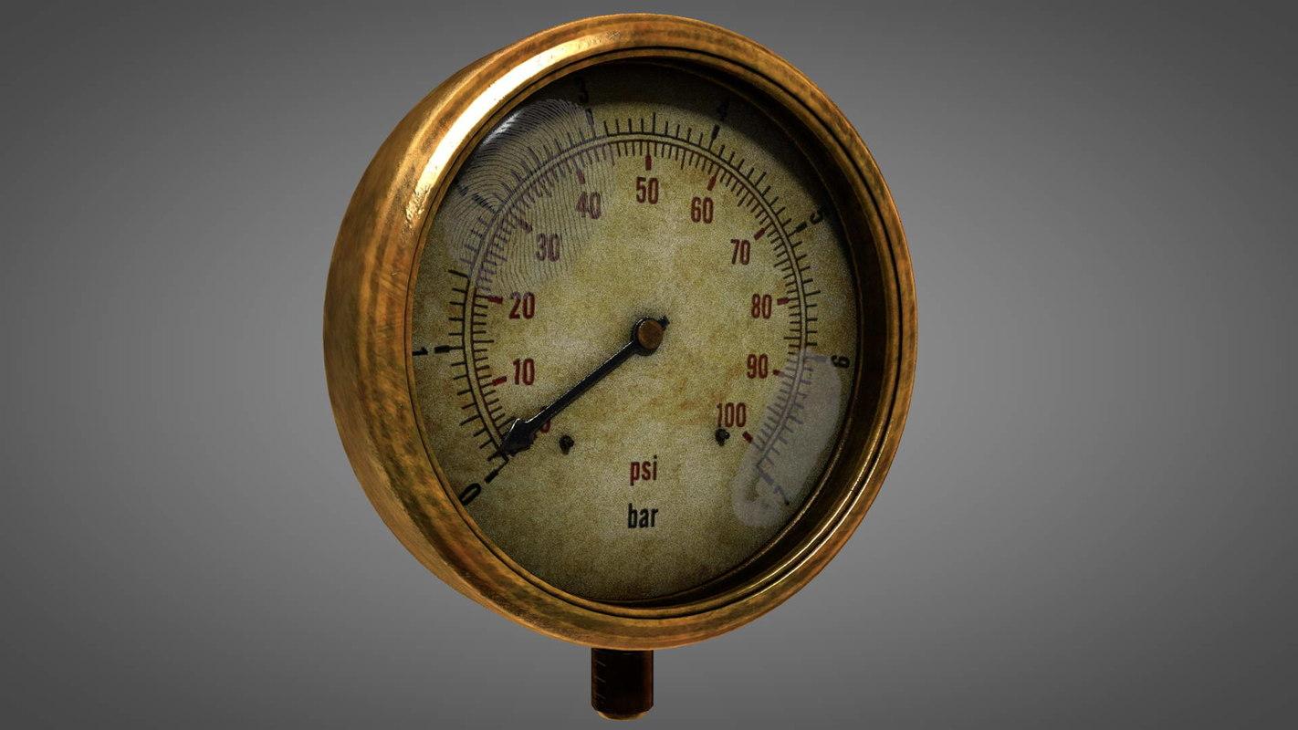 pressure gauge worn vintage model