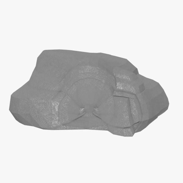 cartoon cave limestone 3D model