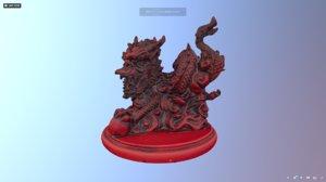 red jade dragon 3D model