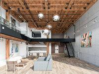 Loft interior scene ( Home - Office - Warehouse )
