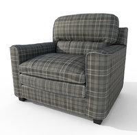 3D scottish chair armchair