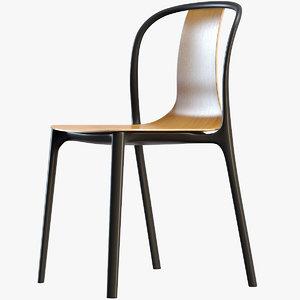 3D model belleville chair wood