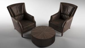 armchair table chair model