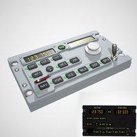 radio panel aircraft airbus 3D