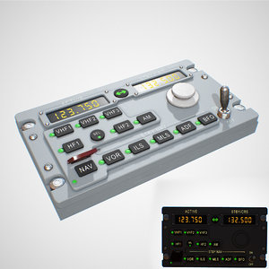 radio panel aircraft airbus 3D
