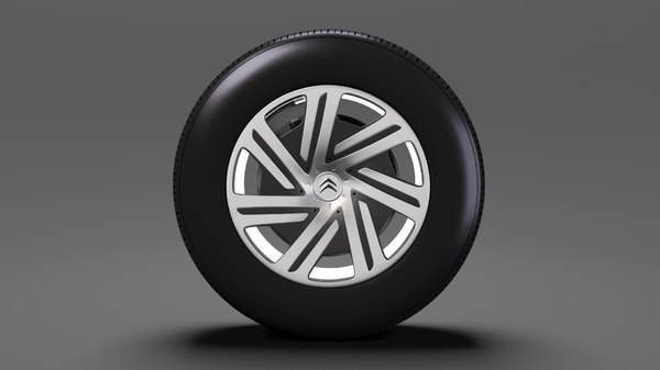 citroen berlingo wheel 2017 3D