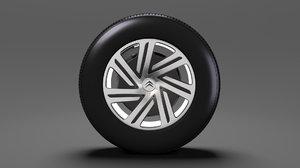 citroen berlingo wheel 2017 3D
