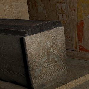 3D realistic sarcophagus