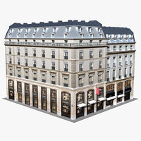 3D typical old city buildings model