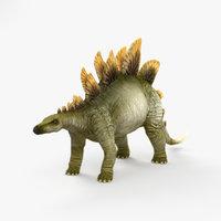 stegosaurus dinosaurs animal 3D model