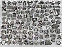 3D bolts knobs 106 pieces