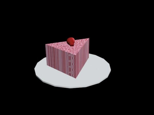 plates slice cake 3D