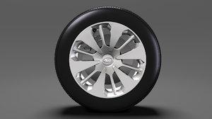 3D daihatsu thor wheel 2017 model