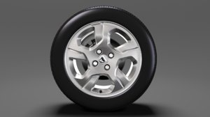 3D dacia logan wheel 2016 model