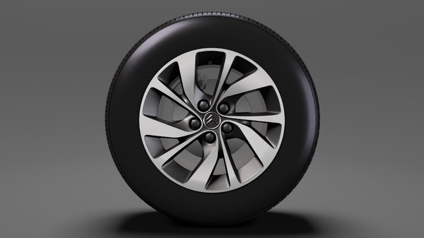 citroen spacetourer 2017 wheel 3D model