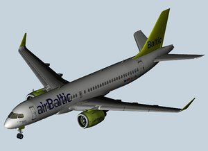 airbus a220 air baltic 3D