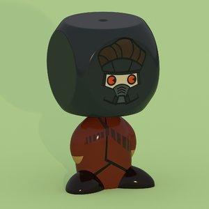 star lord comics 3D model