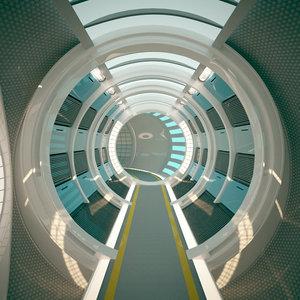 3D spacecraft corridor