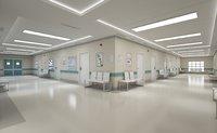 Photorealistic Hospital Hallway Corridor-2