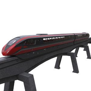 3D model concept levitation train