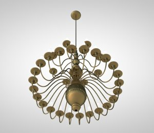 classic chandelier 3D