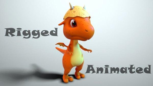 dragon baby cartoon 3D model