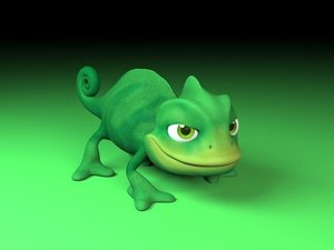 3D chameleon cartoon